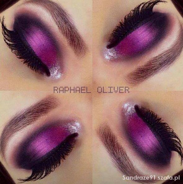 Fryzury Fioletowe oko