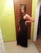 House czarna MAXI sukienka