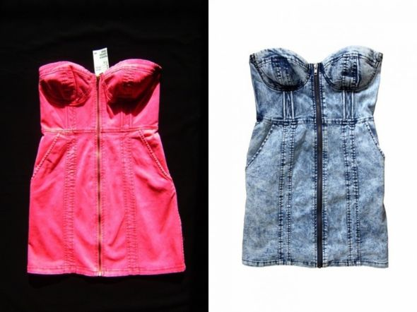 H&M jeans zip gorset mamurkowa