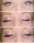 Makijaż biało różowy