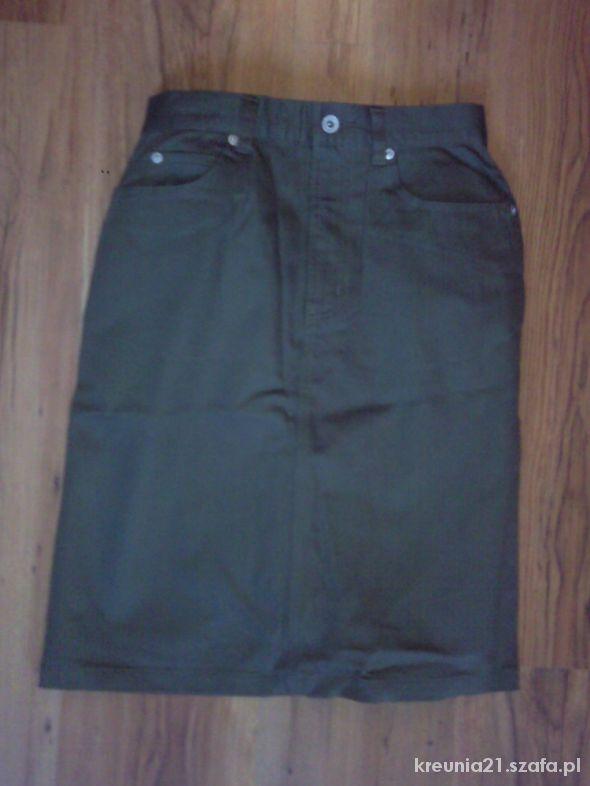 Spódnice militarna khaki spodnica M bershka