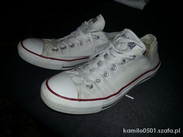 białe trampki converse 40 25 5 cm