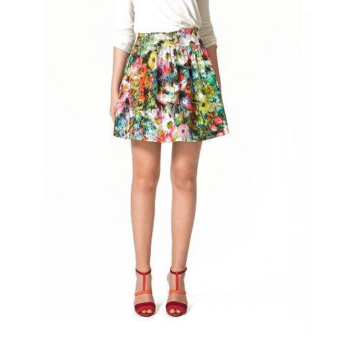 Spódnice ZARA FLORAL spódniczka mini rozmiar S
