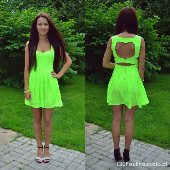 Blogerek neonowa sukienka