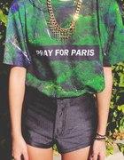 pray for paris koszulka drzewa