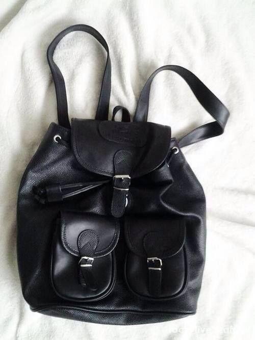 skórzany plecak vintage czrny...