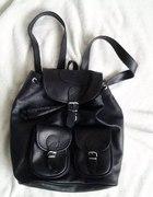 skórzany plecak vintage czrny