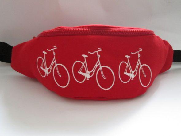 Pozostałe nerka rowerowa czarwona handmade