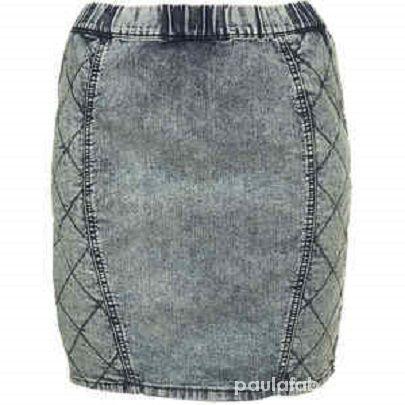 Spódnice marmurkowa pikowana ołówkowa Topshop