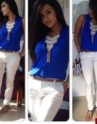 biało kobaltowa stylizacja