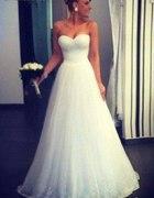 suknia ślubna princeska biała księżniczka