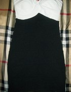 piekna sukienka bandazowa czarno biala tally weijl...