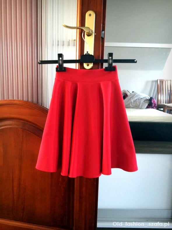 Spódnice Czerwona rozkloszowana zip