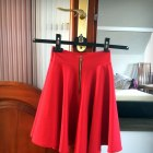 Czerwona rozkloszowana zip