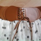 spódniczka mini z falbankami w groszki