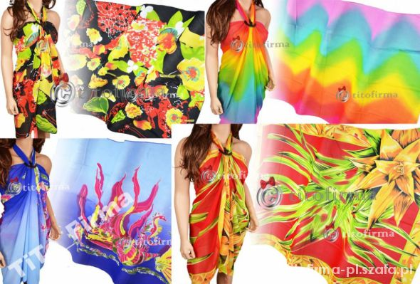 Chusty i apaszki Plażowe chusty wiele wzorów