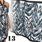 Plażowe chusty wiele wzorów