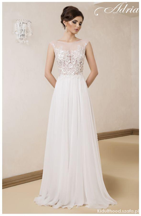 suknia ślubna delikatna ADRIA biała 34 36