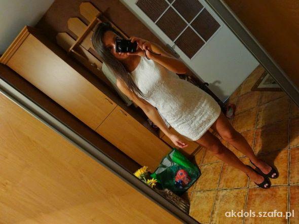 Suknie i sukienki Sukienka ecru koronkowa