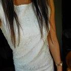 Sukienka ecru koronkowa