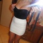 Biała spódniczka bandażowa mini rS