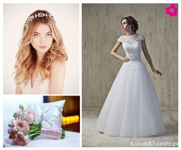 Suknia ślubna Angela Księżniczka Koronka Tiul W Suknie ślubne Szafapl