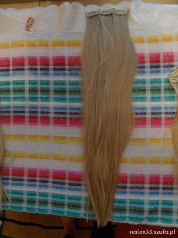 wlosy clip in treska piaskowy blond