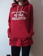 h&M logg bluza oversize czerwona 40 L