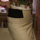 beżowa spódnica z gumką