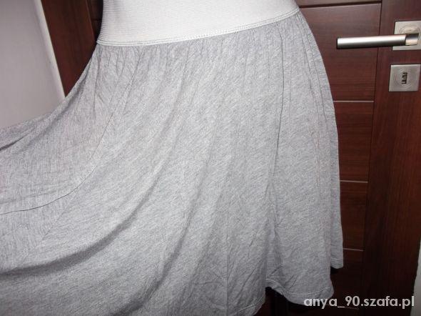 Spódnice szara spódnica rozkloszowana M na L