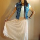 Przepiękna plisowana pudrowa spódnica