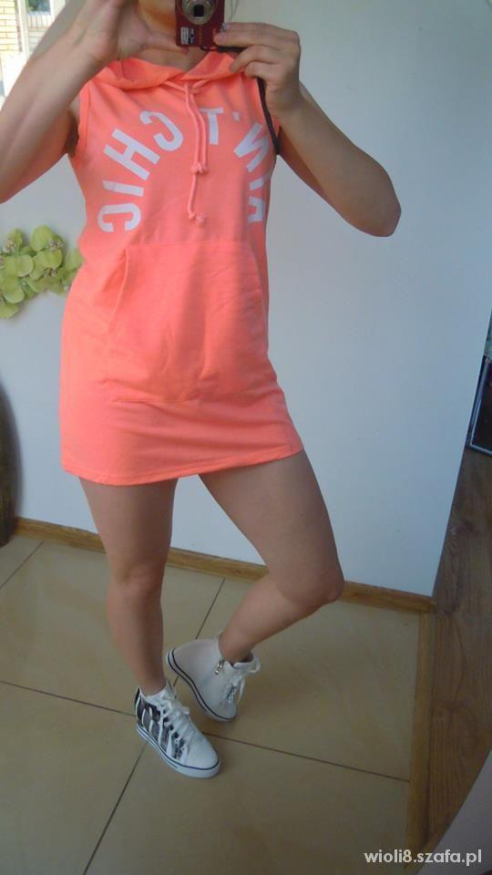 tunika sukienka mini sportowa