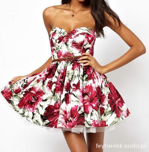 Romantyczne sukienka floral