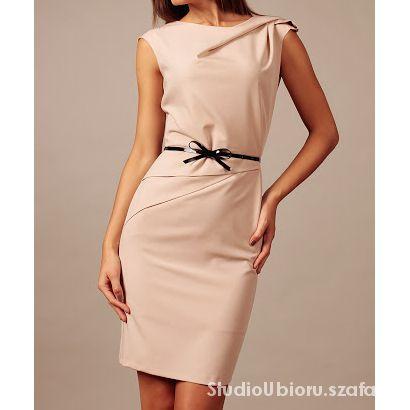 2bf8aa2d97 Elegancka sukienka z paskiem rozmiar 42 44 w Suknie i sukienki ...