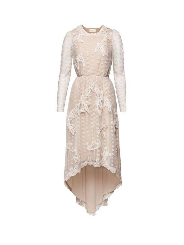 sukienka haftowana koronka Conscious Exclusive H&M