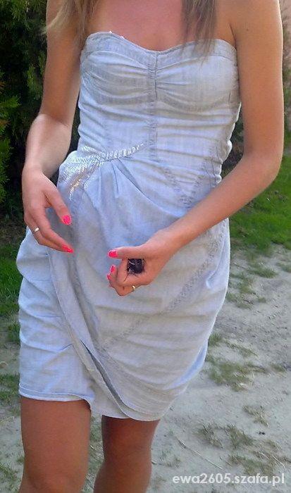 sukienka jeansowa River Island...
