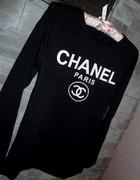 Bluzka długi rękaw logo CHANEL roz uniwersalny