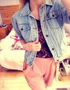 zestaw jeans koronka