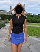 niebieska spodenko spódnica Mohito