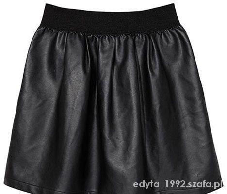 Spódnice czarna spódniczka eko skóra