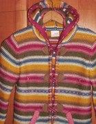 cieplutki kolorowy sweter NEXT 128