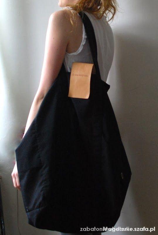 czarna torba worek XXL
