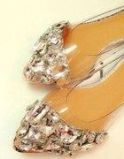 CUDOWNE diamentowe balerinki...