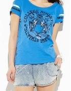 Reserved niebieski Tshirt z tygrysem...