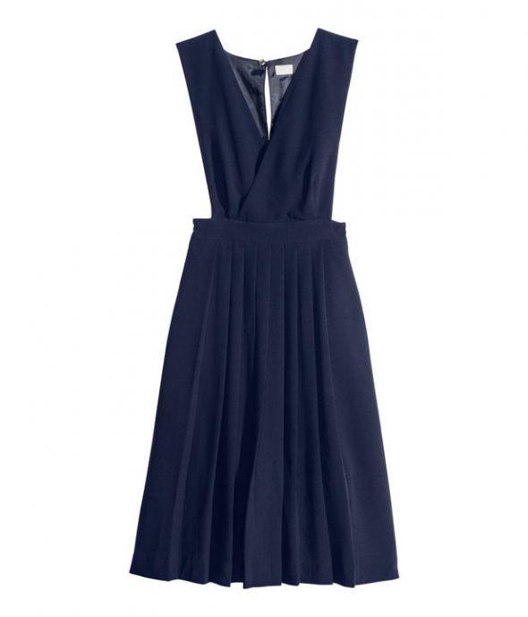 sukienka H&M plisowana z odkrytymi bokami...