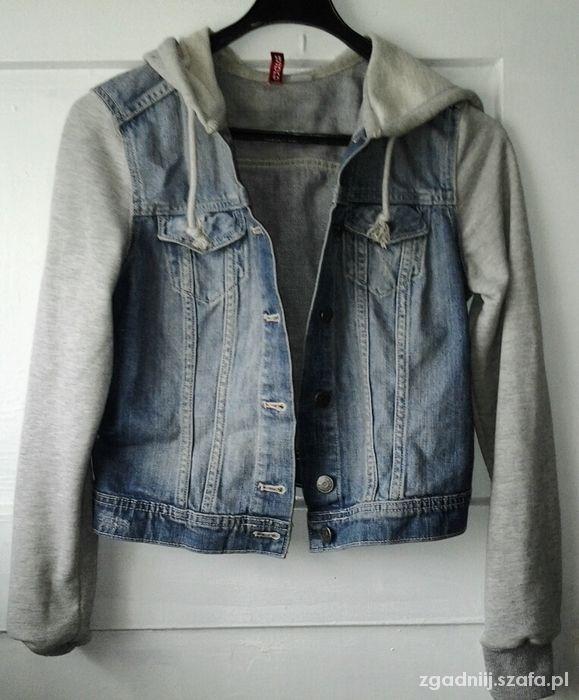 katana kurtka bluza jeansowa rękawy dresowe h&m 36...
