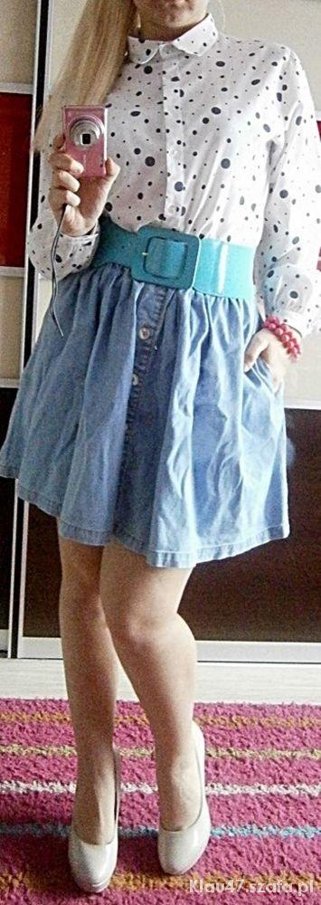 Spódnice Spódnica jeansowa rozkloszowana S M