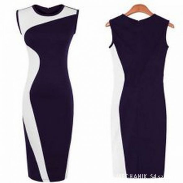 ec42a8c288 Suknie i sukienki WYSZCZUPLAJĄCA OŁÓWKOWA SUKIENKA CZARNO BIAŁA S M