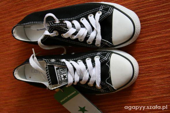 Czarne niskie nowe Converse rozmiar 36 37 dł 23 cm w Trampki