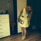 Sukienka cytrynowarozkloszowan